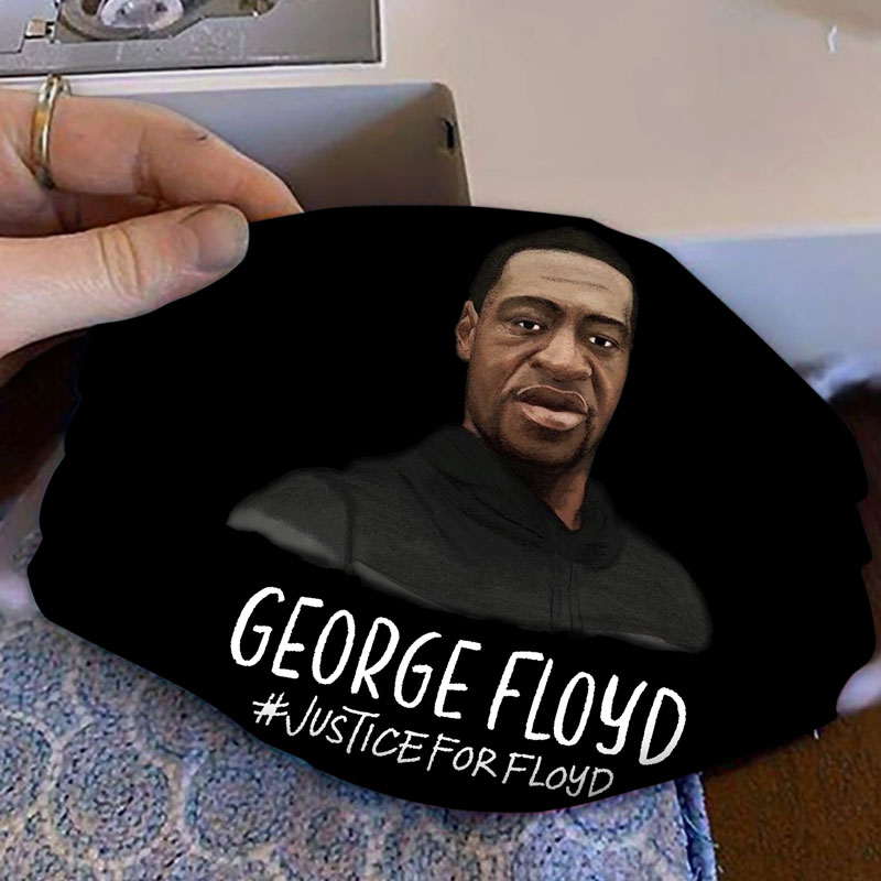 George floyd justice for floyd full printing face mask 4