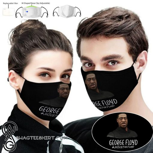 George floyd justice for floyd full printing face mask