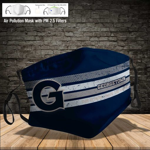 Georgetown hoyas this is how i save the world full printing face mask 4