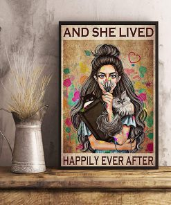 Girl with cats and she lived happily ever after poster 2