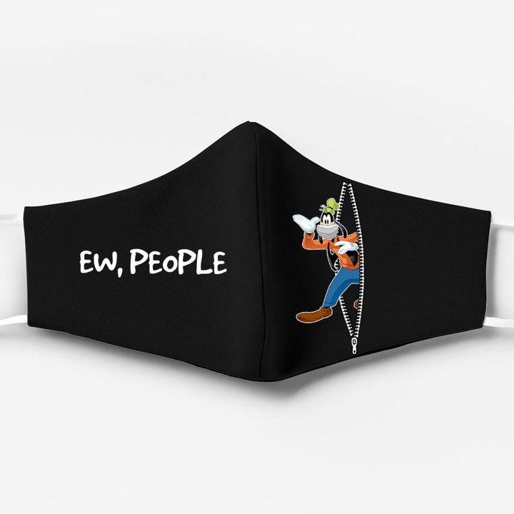 Goofy ew people full printing face mask 3