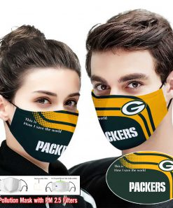Green bay packers this is how i save the world full printing face mask 2