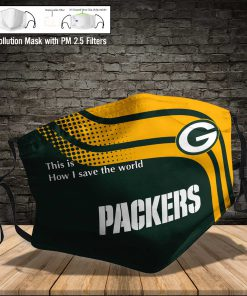 Green bay packers this is how i save the world full printing face mask 4