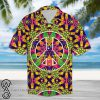 Hippie peace symbol hawaiian shirt