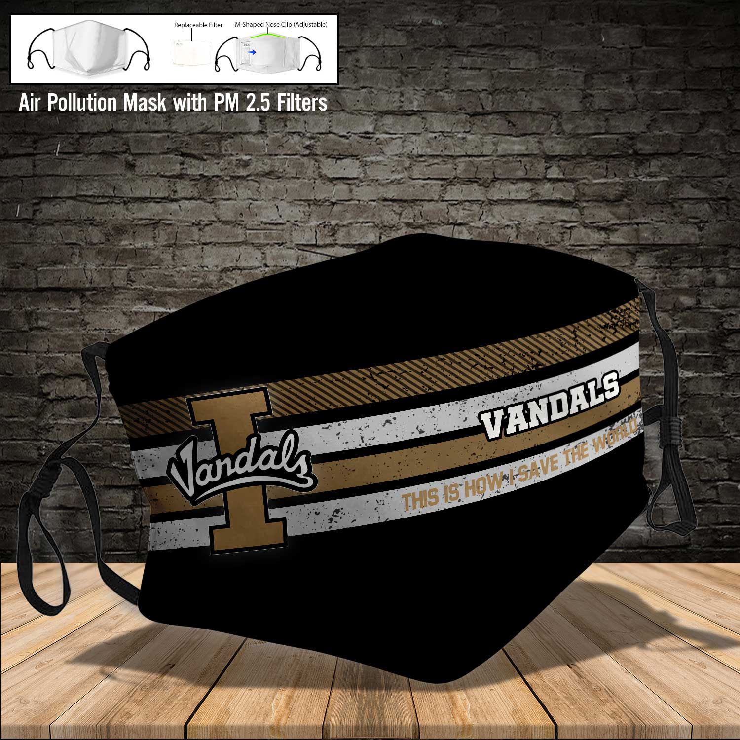 Idaho vandals this is how i save the world full printing face mask 3