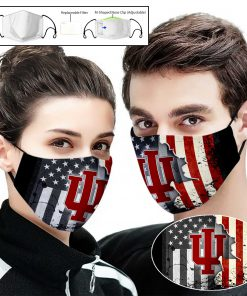 Indiana hoosiers american flag full printing face mask 1