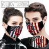 Indiana hoosiers american flag full printing face mask