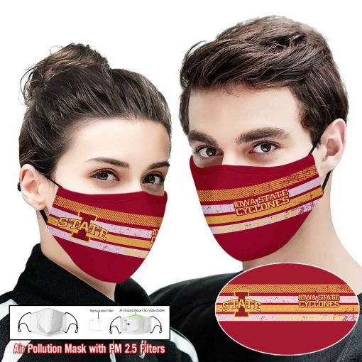 Iowa state cyclones this is how i save the world face mask 2