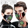 Jagermeister american flag full printing face mask