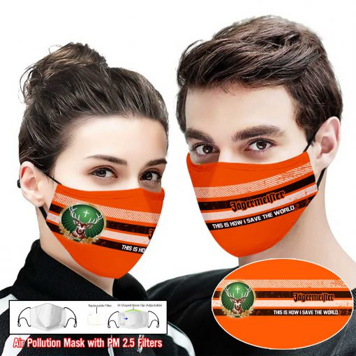 Jagermeister this is how i save the world full printing face mask 2