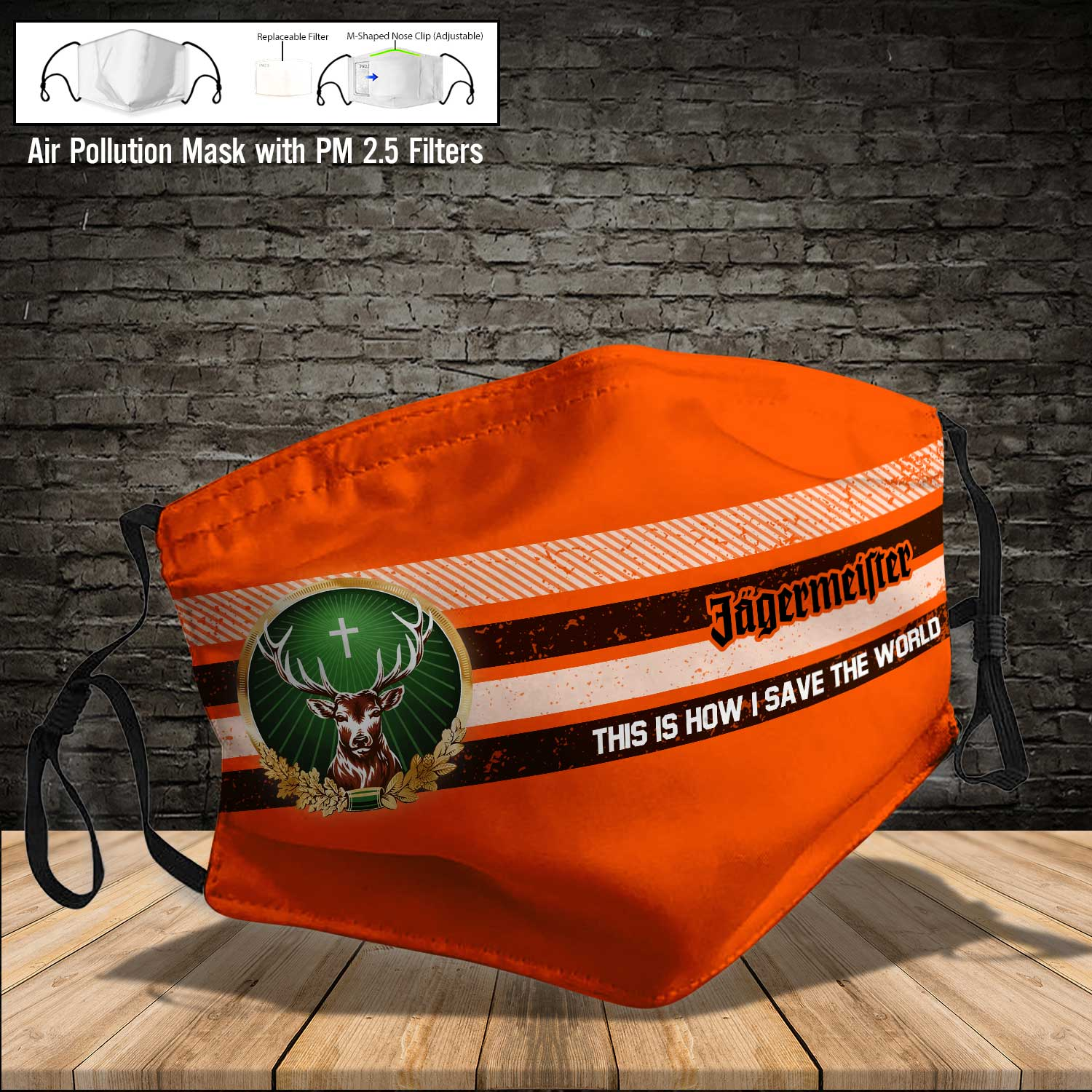Jagermeister this is how i save the world full printing face mask 4