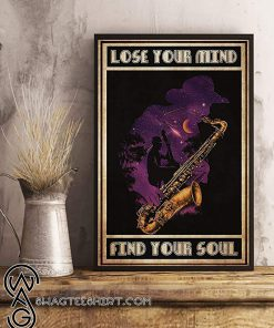 Jazz lose your mind find your soul poster