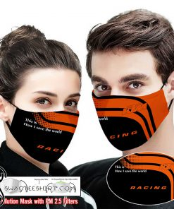KTM racing this is how i save the world full printing face mask
