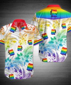 LGBT flag hawaiian shirt 1