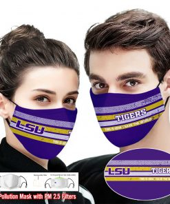 LSU tigers football this is how i save the world face mask 2