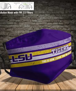 LSU tigers football this is how i save the world face mask 3