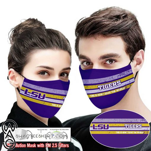 LSU tigers football this is how i save the world face mask