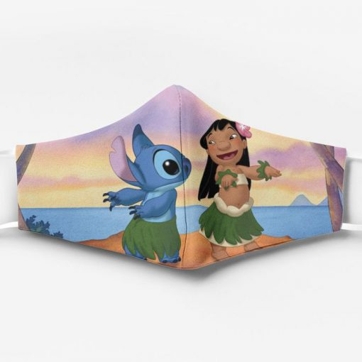 Lilo and stitch ew people full printing face mask 2