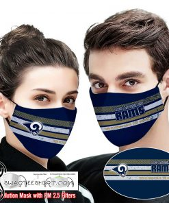 Los angeles rams this is how i save the world full printing face mask