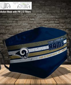 Los angeles rams this is how i save the world full printing face mask 4