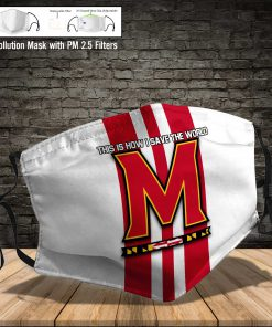 Maryland terrapins this is how i save the world face mask 4