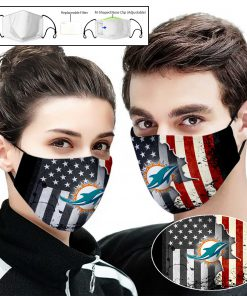 Miami dolphins american flag full printing face mask 2