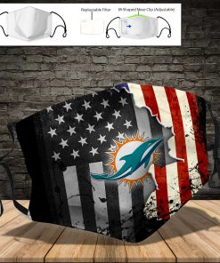 Miami dolphins american flag full printing face mask 3