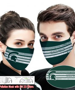 Michigan state spartans this is how i save the world face mask 1