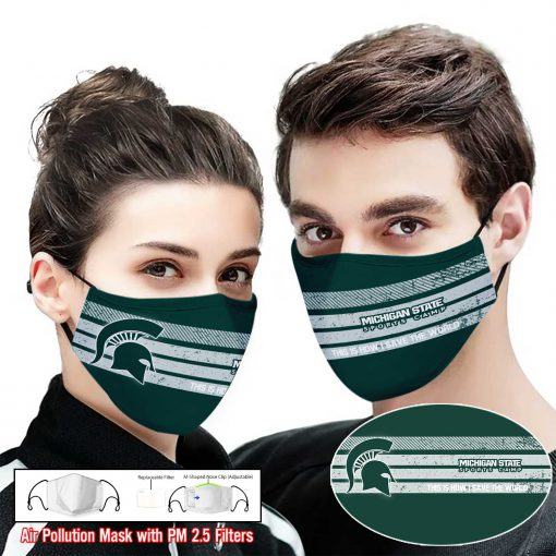 Michigan state spartans this is how i save the world face mask 2