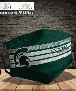 Michigan state spartans this is how i save the world face mask 3