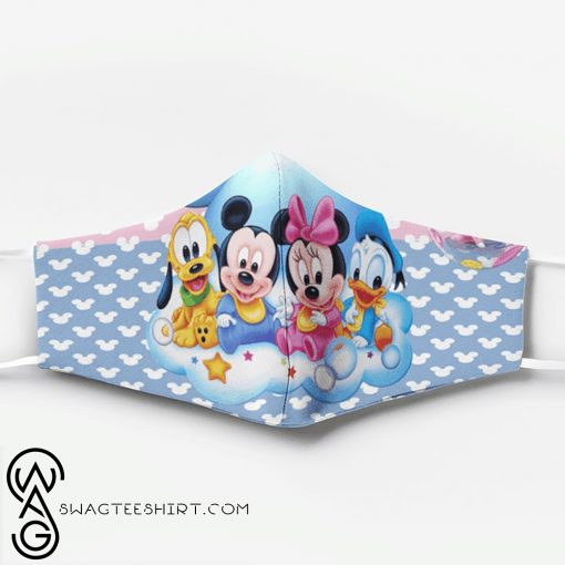 Mickey mouse babies full printing face mask