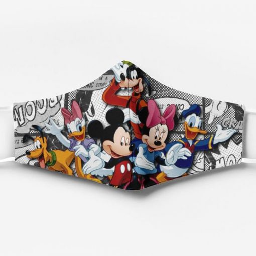 Mickey mouse characters full printing face mask 1