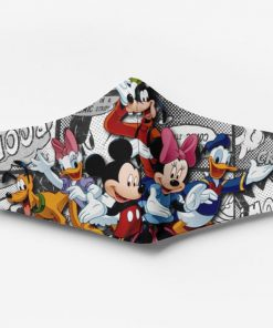 Mickey mouse characters full printing face mask 2