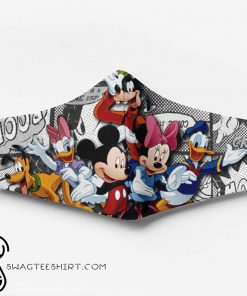 Mickey mouse characters full printing face mask