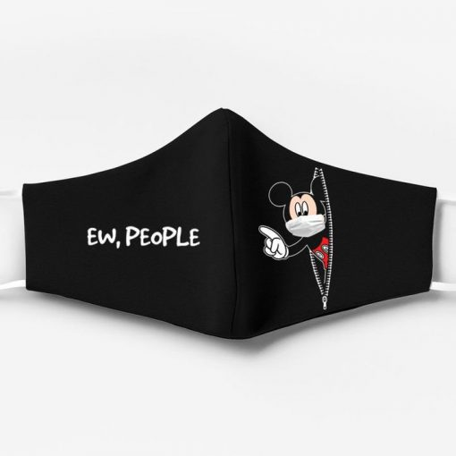 Mickey mouse ew people full printing face mask 2