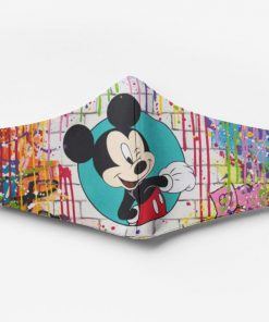 Mickey mouse watercolor full printing face mask 2