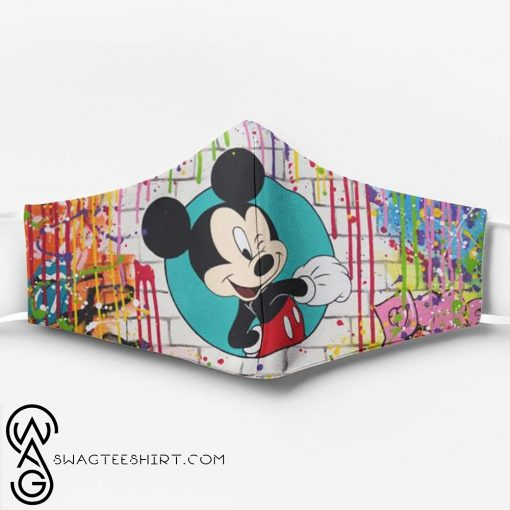 Mickey mouse watercolor full printing face mask