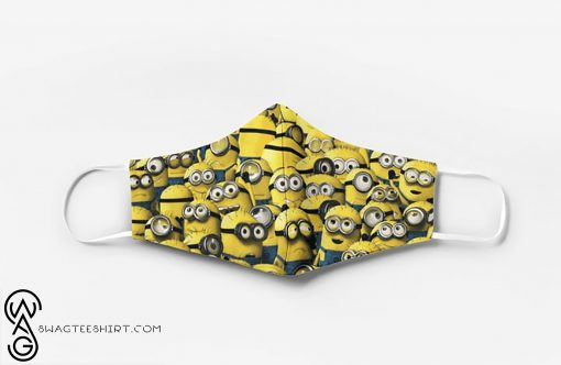 Minions full printing face mask