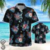 Music note and flower hawaiian shirt