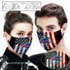 NFL buffalo bills american flag full printing face mask
