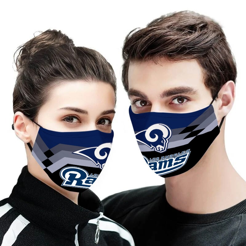 NFL los angeles rams anti pollution face mask 1