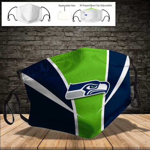 National football league seattle seahawks full printing face mask 3