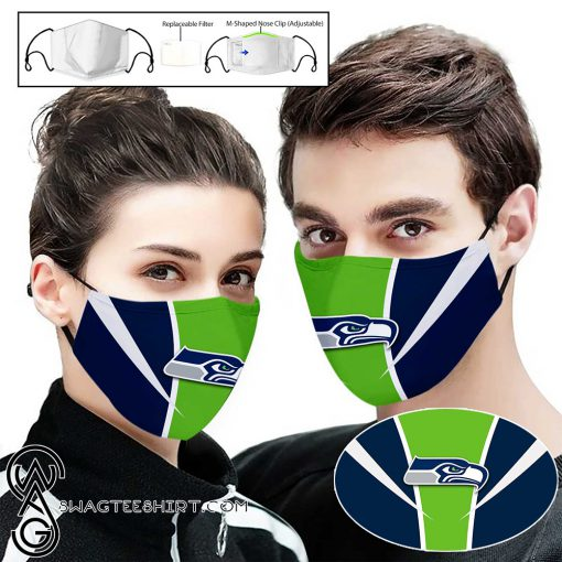 National football league seattle seahawks full printing face mask
