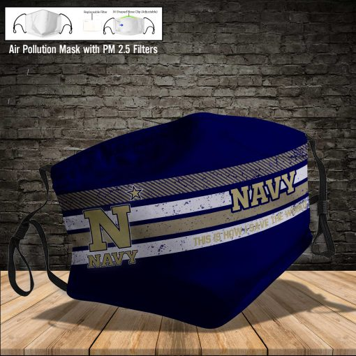 Navy midshipmen this is how i save the world full printing face mask 3