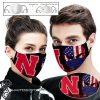 Nebraska cornhuskers american flag full printing face mask