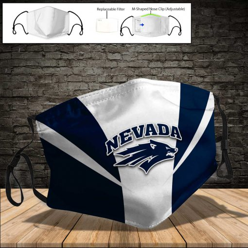 Nevada wolf pack full printing face mask 4