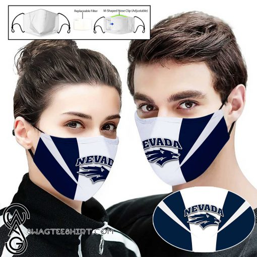 Nevada wolf pack full printing face mask