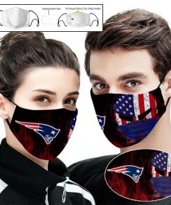 New england patriots american warrior full printing face mask 1
