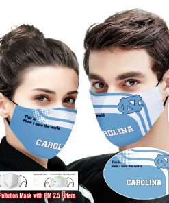 North carolina tar heels this is how i save the world face mask 1