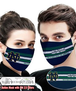 Notre dame fighting irish this is how i save the world full printing face mask